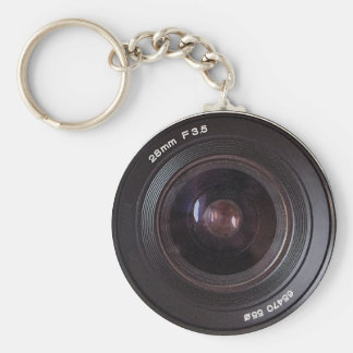 Retro 80s Camera Lens On A Keyring Basic Round Button Keychain