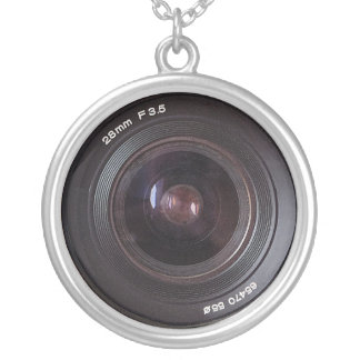 Retro 80s Camera Lens Sterling Silver Jewelry