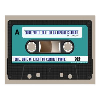 Rétro 80s cassette Mixtape personnalisé Carte Postale