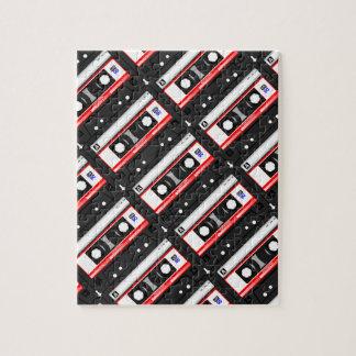 Retro 80's cassette tape jigsaw puzzle