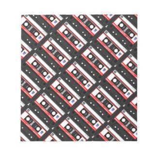 Retro 80's cassette tape notepad