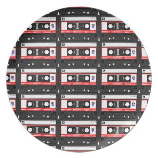 Retro 80's cassette tape plate