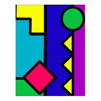 Retro 80s Color Block Postcard