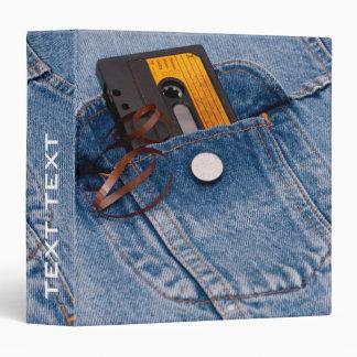 Retro 80's Design - Audio Cassette Tape 3 Ring Binder