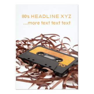 Retro 80's Design - Audio Cassette Tape Card