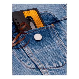 Retro 80's Design - Audio Cassette Tape Postcard