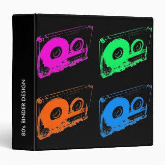 Retro 80's Design - Audio Cassette Tape Vinyl Binder