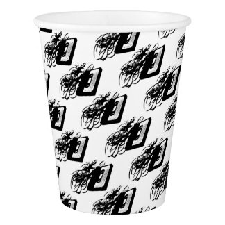 Retro 80's Design - Audio Cassette Tape With Pulle Paper Cup