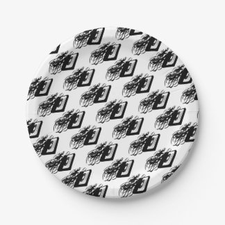 Retro 80's Design - Audio Cassette Tape With Pulle Paper Plate