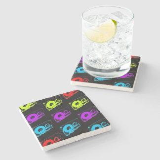 Retro 80's Design - Audio Cassette Tapes Stone Coaster