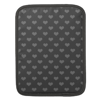 Retro 80s flannel gray bubble hearts emo pattern iPad sleeve