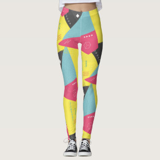 Retro 80's Gym Exercise Leggings