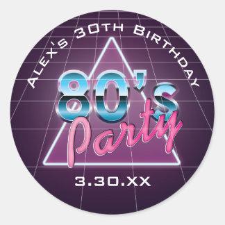Retro 80's Party Stickers