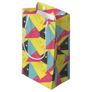 Retro 80's Style Paper Gift Bag