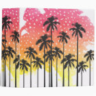 Retro 80's Summer Palm Trees Geometric Triangles Binder