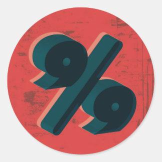 Retro 99 Percent Round Sticker
