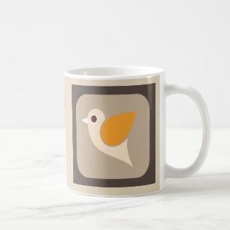 Retro Abstract Chirpy Bird Mug
