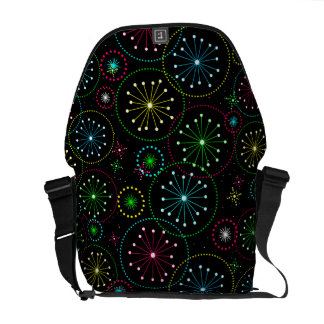 Retro Abstract Colorful Starburst Explosion Commuter Bags