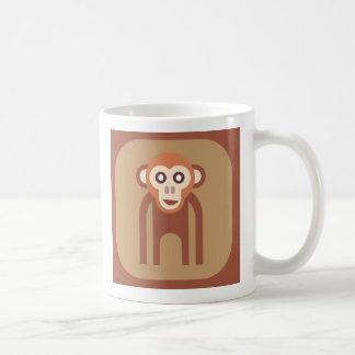 Retro Abstract Funky Monkey Basic Mug