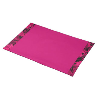 Retro Abstract Magenta Pink Placemats