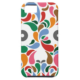 Retro / Abstract paisley color drop skull Case For The iPhone 5