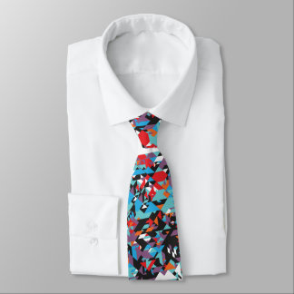 Retro Abstract Pattern Tie