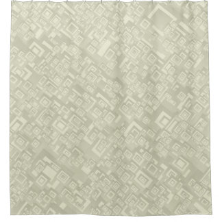 Retro Abstract Rectangle Pattern Beige