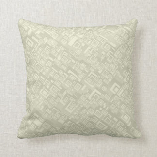 Retro Abstract Rectangle Pattern Beige Throw Pillow