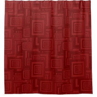 Retro Abstract Rectangle Pattern Red