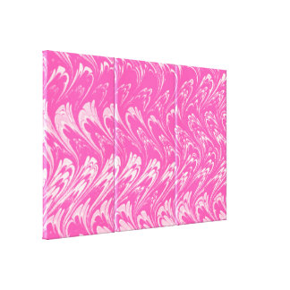 Retro Abstract Swirls Pink Stretched Canvas Print