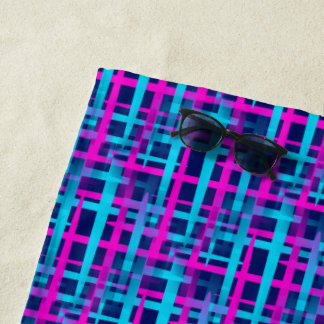 Retro Abstract Weave Beach Towel