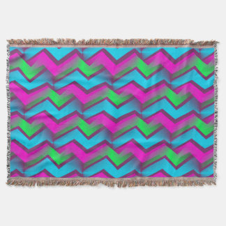 Retro Abstract Zigzag Pattern Throw