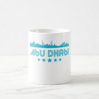 Retro Abu Dhabi Skyline Coffee Mug