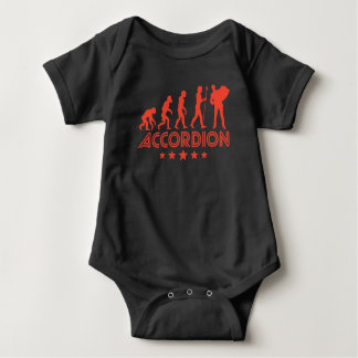 Retro Accordion Evolution Baby Bodysuit