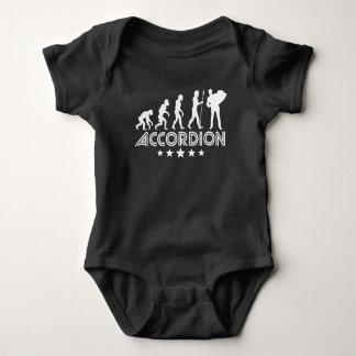 Retro Accordion Evolution Baby Bodysuit