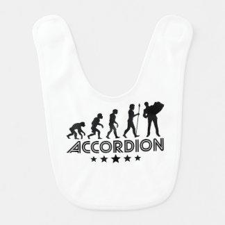 Retro Accordion Evolution Bib