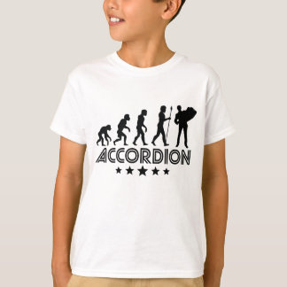 Retro Accordion Evolution T-Shirt