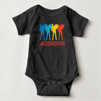 Retro Accordion Pop Art Baby Bodysuit