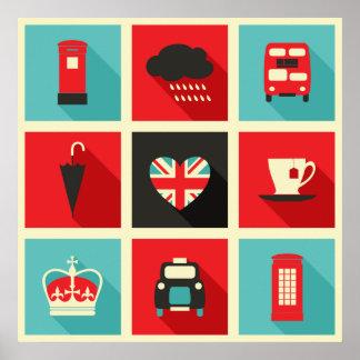 Rétro affiche de collage de Londres