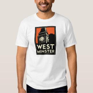 rétro affiche de voyage d'art déco de Westminster Tee Shirt
