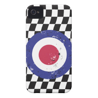 Retro Aged mod target on Checks iPhone 4 Cover