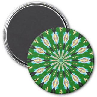 Rétro aimant de kaléidoscope de vert de ressort de