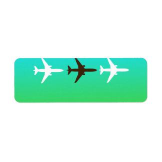 Retro Airplaine Return Address Label