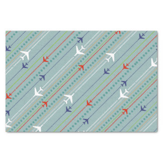 Retro Airplane Pattern Tissue Paper