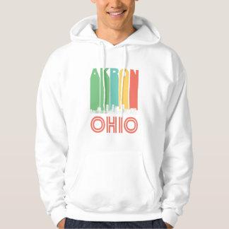 Retro Akron Ohio Skyline Hoodie