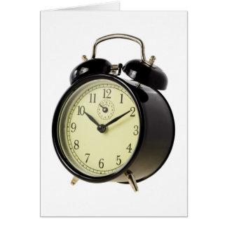 Retro alarm clock card