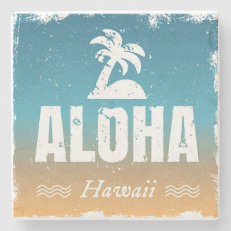 Retro Aloha Hawaii Stone Beverage Coaster