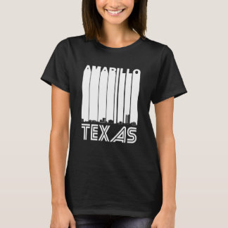 Retro Amarillo Texas Skyline T-Shirt