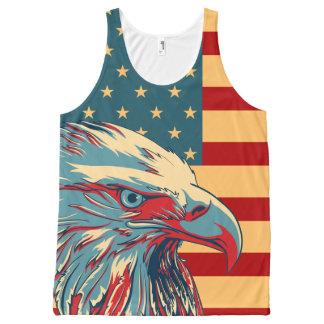 Retro American Patriotic Eagle Flag All-Over-Print Tank Top