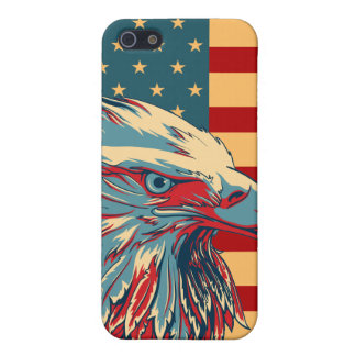 Retro American Patriotic Eagle Flag iPhone 5 Case